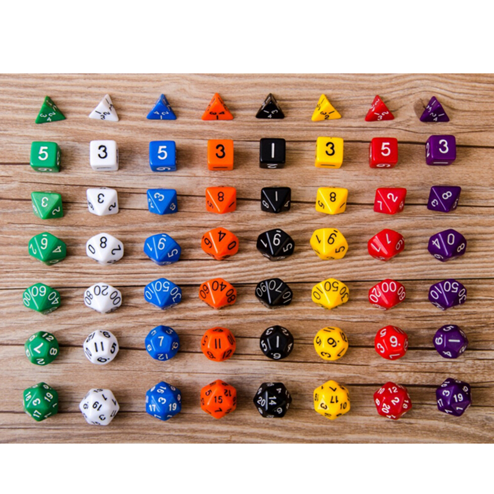 7Pcs D10 Multi-Sided Gem Dice Die for RPG Dungeons & Dragons DND D&D Games Set ...