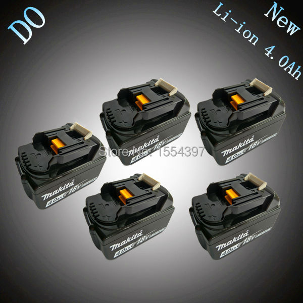5PCS Rechargeable Lithium Ion 4000mAh Power Tool Battery Replacement for Makita 18V BL1830 BL1840 LXT400 194205-3 194230-4 18v 3 0ah nimh battery replacement power tool rechargeable for ryobi abp1801 abp1803 abp1813 bpp1815 bpp1813 bpp1817 vhk28 t40