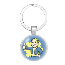 9 styles New Fallout 4 Necklace Keychain Cartoon Vault Boy figure Fashion Jewerly pendant for Gift Christmas present(China)