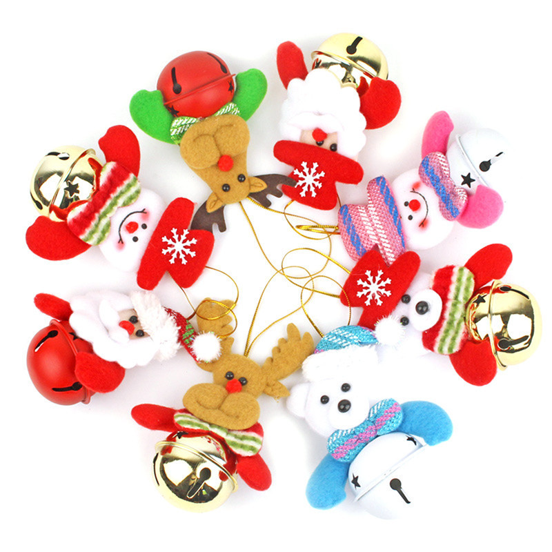 Santa Claus Christmas Tree Hanging font b Doll b font Bell Pendant X mas Christmas Reindeer