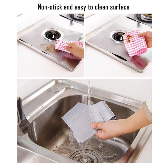 Reusable Non-stick Foil Stovetop Protector Liner Cover