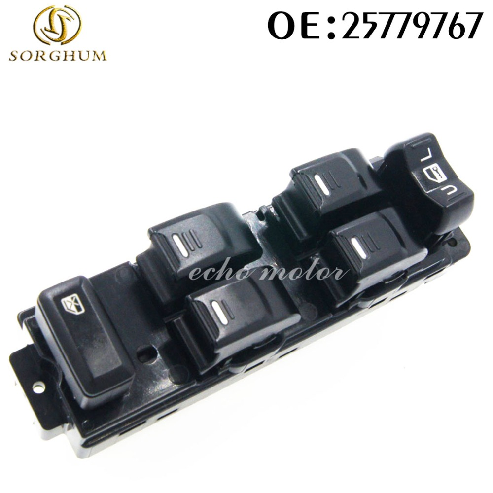 New 25779767 Front Left Side Master Power Electric Controller Window Switch For GMC Canyon Chevrolet Colorado Hummer H3 H3T цена