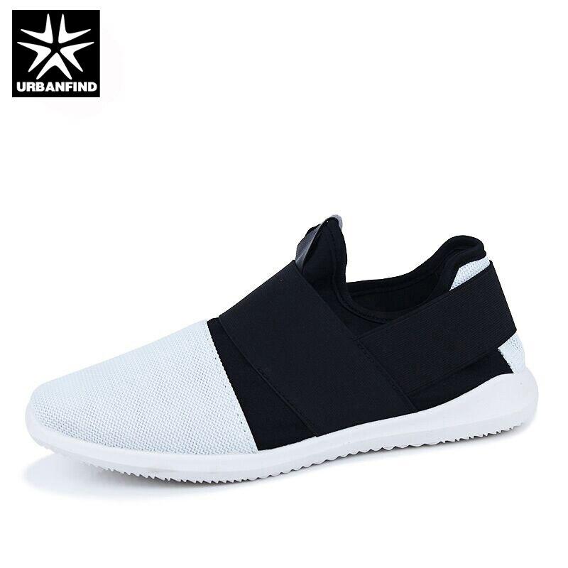Urbanfind hombres slip-en los zapatos casuales negro/blanco tamaño de la ue 39-4
