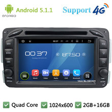 QuadCore 1024*600 Android 5.1.1 Car DVD Player Radio 4G For Mercedes-Benz A C Class CLK M ML W203 Viano Vito W693 W463 W209 W208