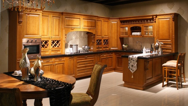 Aliexpress Buy Guangzhou Wholesale Solid Wood Kitchen Cabinet