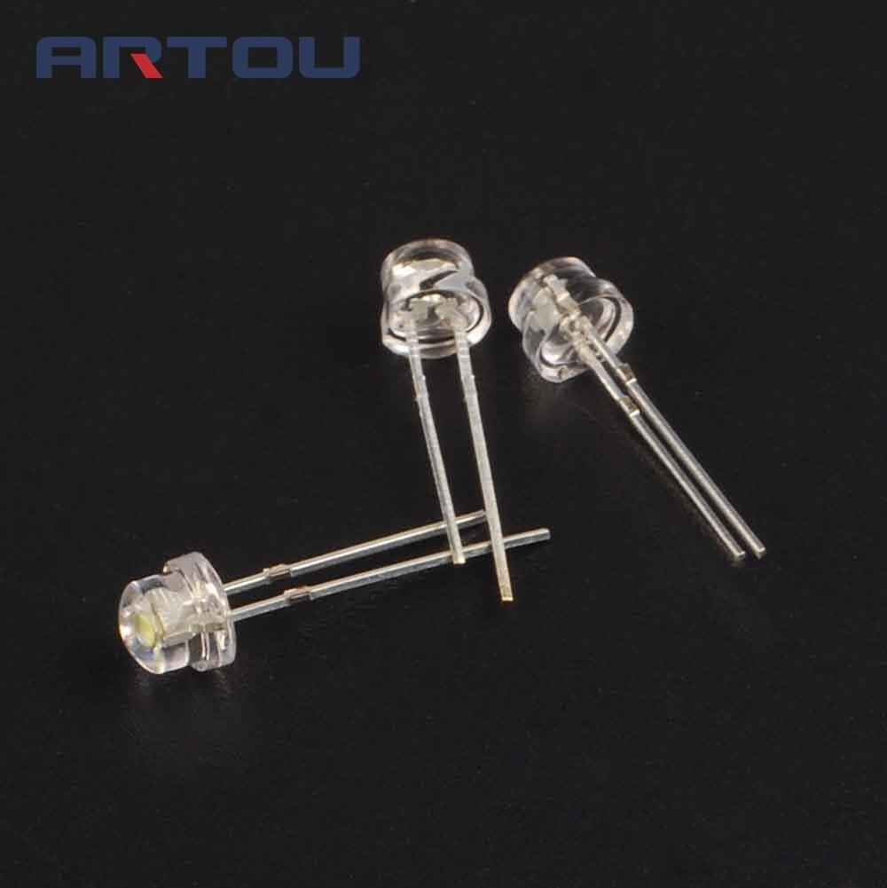 200pcs 5mm super bright white light emitting diode dip led straw hat rh aliexpress com