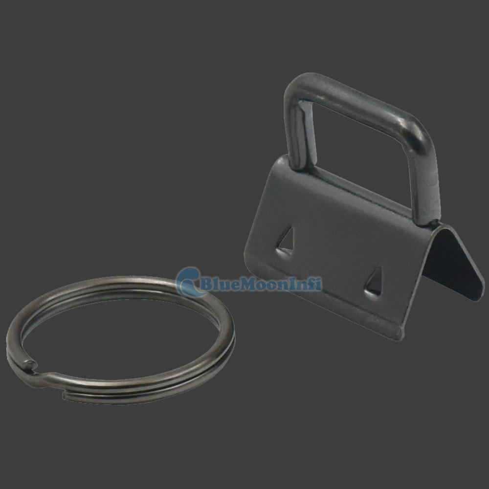 25mm 32mm Keychain Key Fob Hardware Wristlet Set with Split Ring Wrist Bag Strap