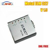 10/20 Adet DHL Ücretsiz ELM327 USB Metal V1.5a ELM 327 Metal CAN-BUS Arayüz Kod Tarayıcı OBD2 Otomatik araç Teşhis Aracı En Iyi satış