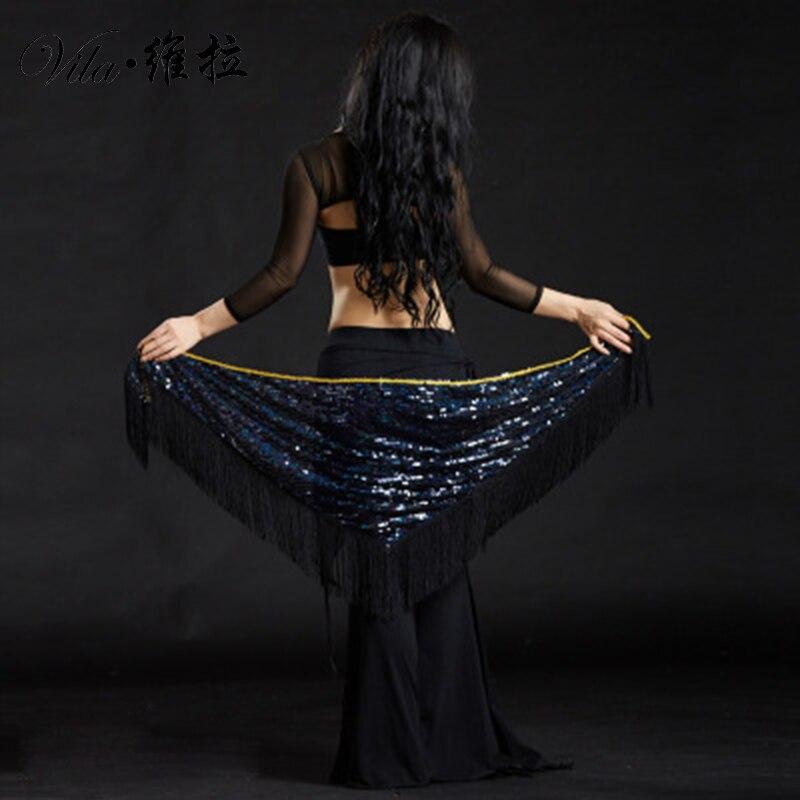 Adult Fringe Sequin Belly Dance Belt Hip Scarves Scarf Oriental Costumes For Sale Women Bellydance Eastern Mermaid Dancing Wear
