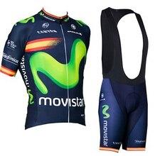 2017 sport all'aria aperta Movistar pro ropa ciclismo maglia team cycling jersey bike shirt vestiti del ciclo mtb della biciclet