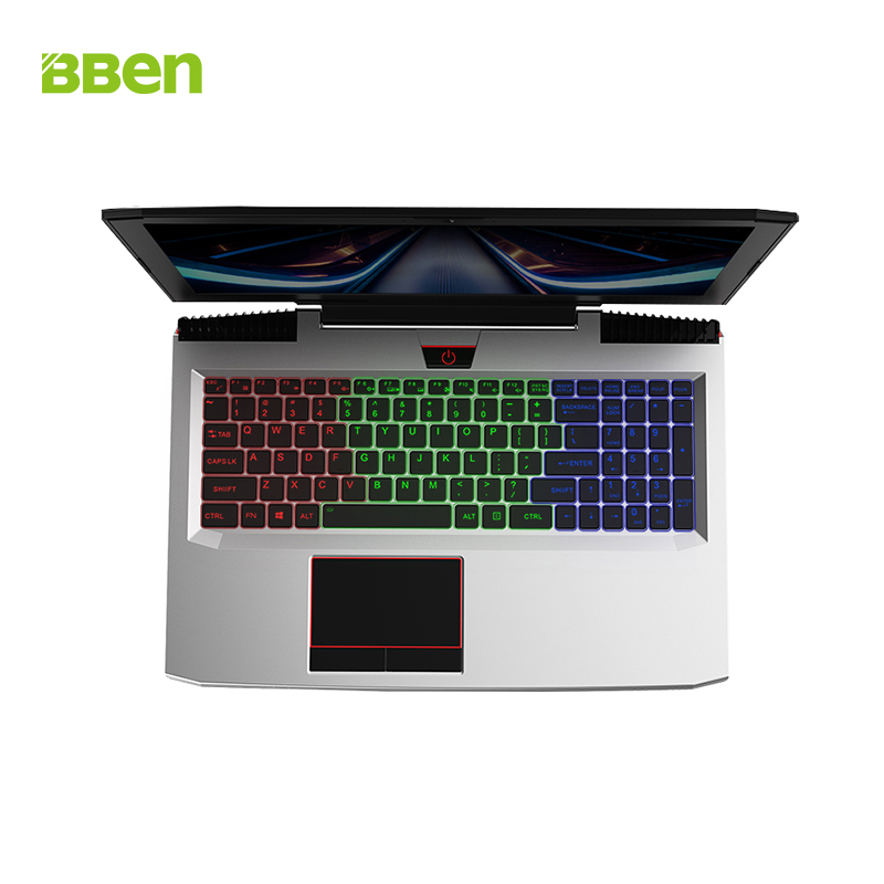BBEN 15.6'' Laptop NVIDIA GTX1060 Intel I7 7700HQ Kabylake 16GB RAM 128GB SSD 1T HDD RGB Backlit Keyboard Windows 10 Metal Case