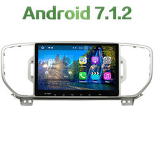 """1024*600 9"""" Android 7.1.2 Quad core 2GB RAM 16GB ROM Car Multimedia system Radio touch screen For Kia Sportage 2010 2011 2012"""