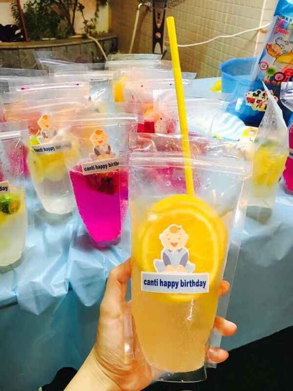 50pcs New Clear Plastic Drinking Packaging Bag Beverage Juice Milk Coffee Pouch Hot and Cold Fruit Juice Zip Bags