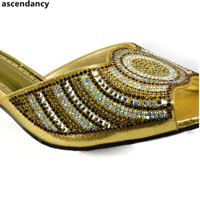 Black Color Matching Shoes and Bag Set Decorated with Rhinestone African Women Italian Shoes and Bag Set for Wedding Italy Shoes