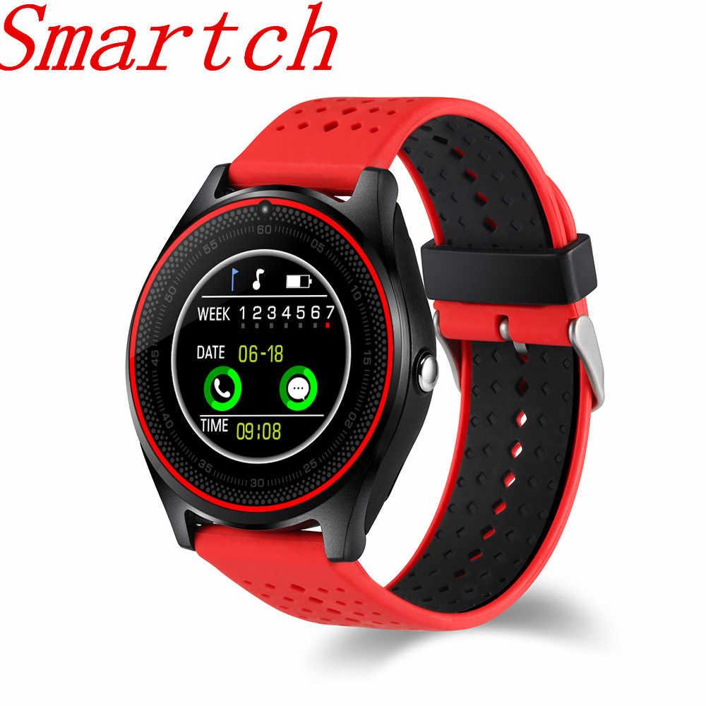 Smartch V9 Смарт часы с Камера Bluetooth Smartwatch sim-карты наручные часы  для телефона Android 75845cd8ae065