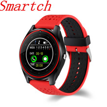 Smartch V9 Smart Watch with Camera Bluetooth Smartwatch SIM Card Wristwatch for Android Phone Wearable Devices pk dz09 A1 gt08