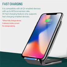 ROCK W3 Dual-coil Wireless Charging Stand For iPhone X 8 Samsung Note 8 S8 Plus S7 S6