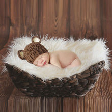 50*50cm Newborn Baby Photography Props Blankets Outfit Photo Props Infant Photo Fur Stretch Yarn Wrapped Props Blanket DW983836(China)