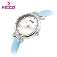 Free Shipping Kezzi Brands Leather Strap Fashion Watches Women Luxury Diamond Watch Ladies Wristwatches Designer Quartz