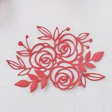 DUOFEN 2018 New flower metal Cutting Dies Stencils for DIY Scrapbooking stamping Die Cuts Paper Cards craft knurling dies