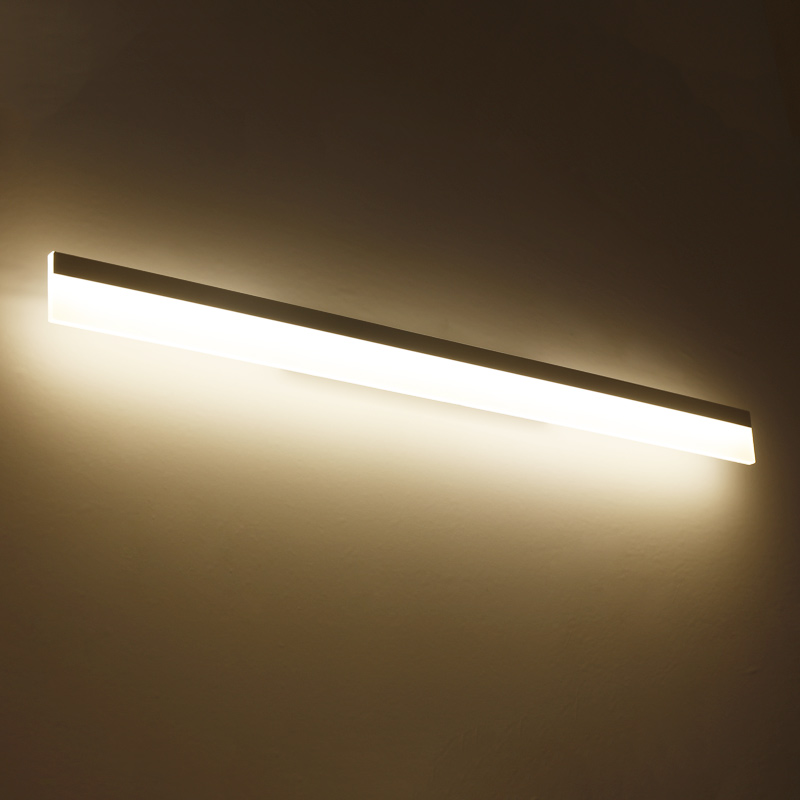 Modern bathroom / toilet LED front mirror wall lamp bathroom acrylic mirror lights Bedroom 0.4m-1.2m 8W-24W AC85-265V luxury modern white acrylic 12w led bathroom wall lamp mirror front fashion wall light showroom washroom wall lamp