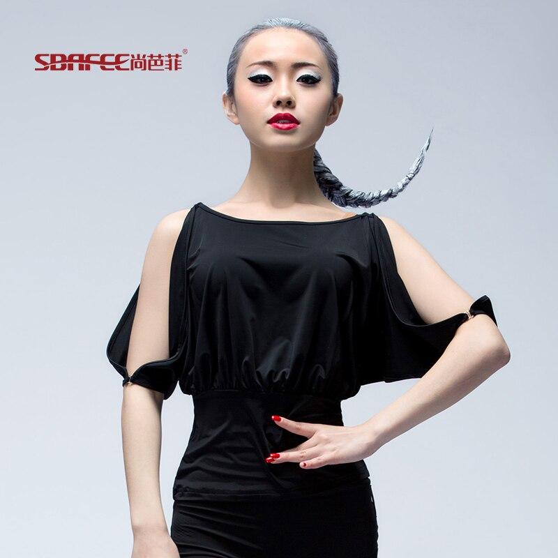 Camisa da dança Latina desgaste da dança latina de manga curta novo e  moderno para as mulheres ad4b421c6793