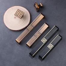 Antique New Chinese Zinc Alloy Handle Modern Minimalist Wardrobe Cabinet Door Drawer Brass