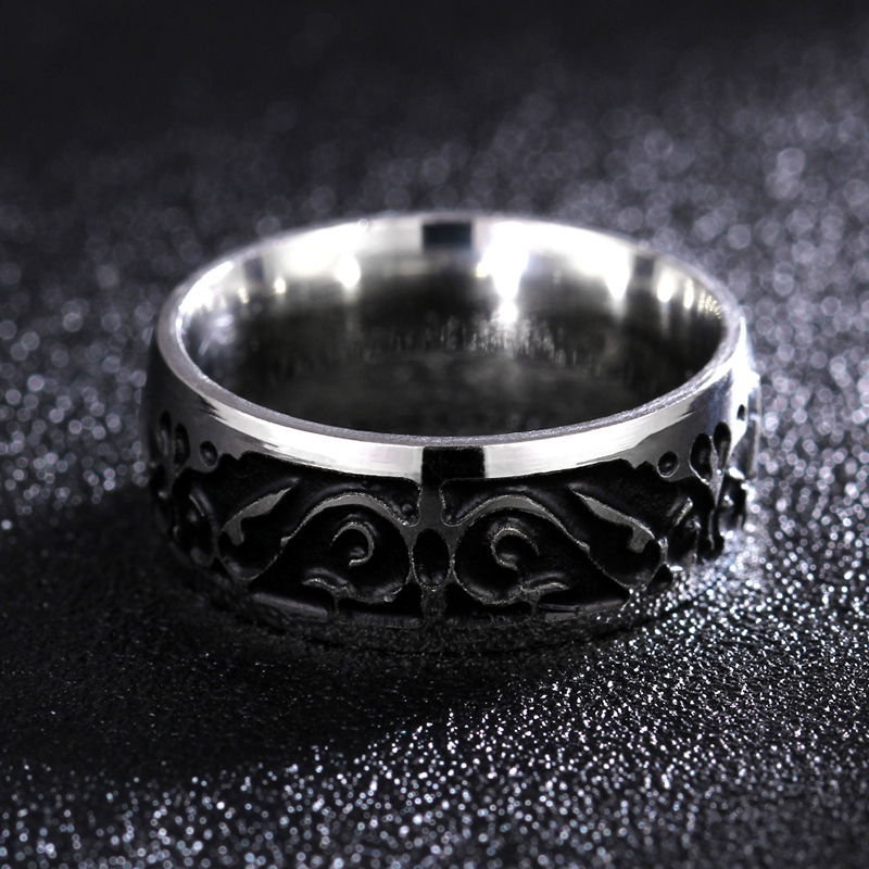 Titanium V65 Vintage Dekorativni uzorak prsten od nehrđajućeg - Modni nakit - Foto 2
