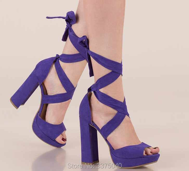 Ladies sexy cross-tied lace up gladiator sandals woman summer chunky high heels women shoes sandals pumps open toe zapatos mujer недорго, оригинальная цена