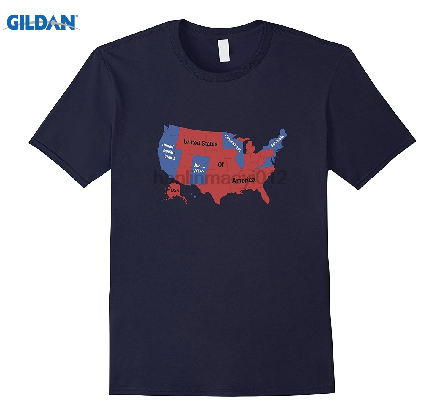 GILDAN Funny USA Post Election 2016 Map For Republicans Hot Womens T-shirt