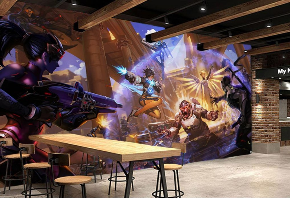 customize 3d photo wallpaper Restaurant coffee shop tooling background wall 3d living room wall wallpaper