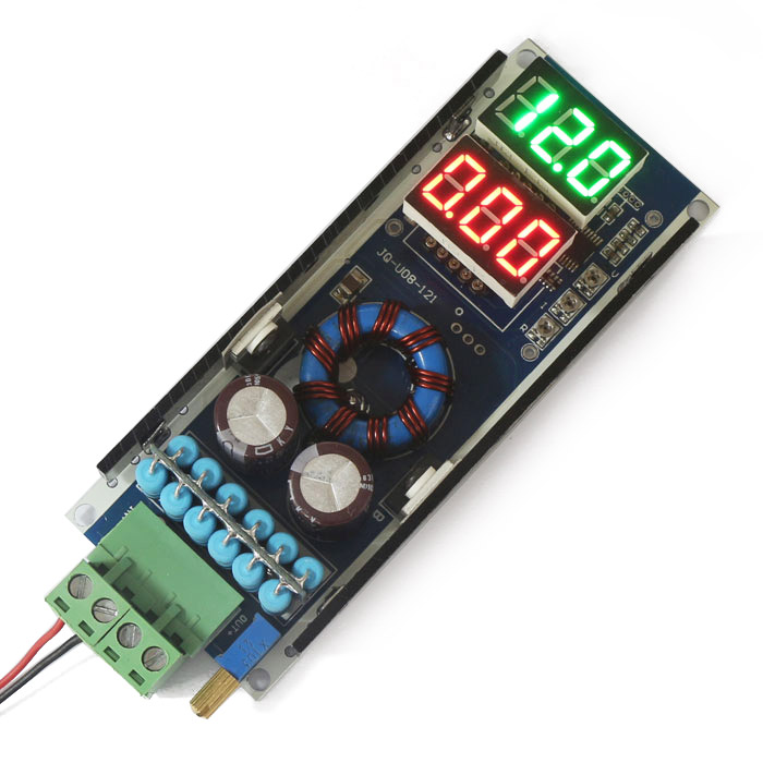 Convertisseur de puissance de poussée réglable de Module de poussée de DC-DC avec le voltmètre/ampèremètre LED