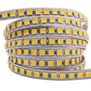 Светодиодная лента 5050, 12 В, 5054, 120 светодиодов/м, Водонепроницаемая Гибкая СВЕТОДИОДНАЯ лента SMD 2835, 60 светодиодов, мягкий светильник, 8 цветов ...
