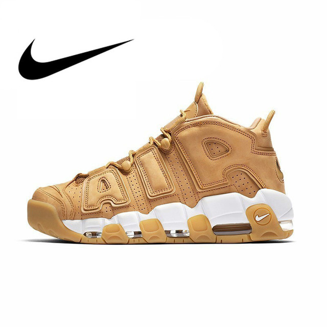 Original Nike Air More Uptempo OG Men's Basketball Shoes Sports Breathable Outdoor Sneakers Designer Shoes 2018 New AA4060-200