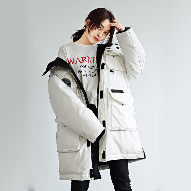 100% satisfaction cheaper promo codes US $136.0 |Women's Thickened Casual Down Winter Coat Hooded Mid Length Down  Puffer Jacket Coats Parkas-in Down Coats from Women's Clothing on ...