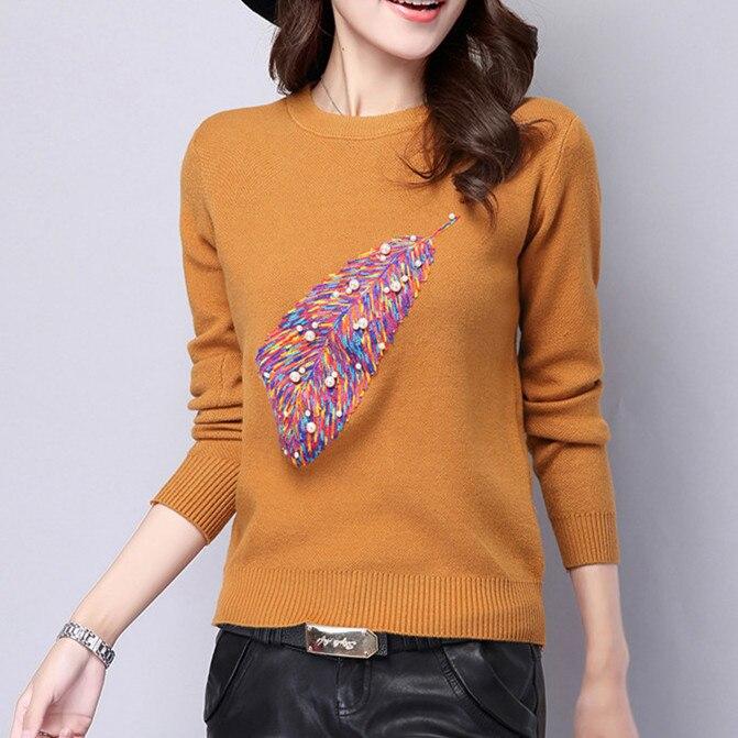 2017 Nuevas Mujeres de calidad Superior de primavera y otoño suéter suéteres par