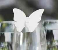 120 cái/lốc Laser Cut bướm Shape bảng Tên chủ Nơi Thẻ Wine Glass Thẻ Ủng Hộ Đám Cưới wd113