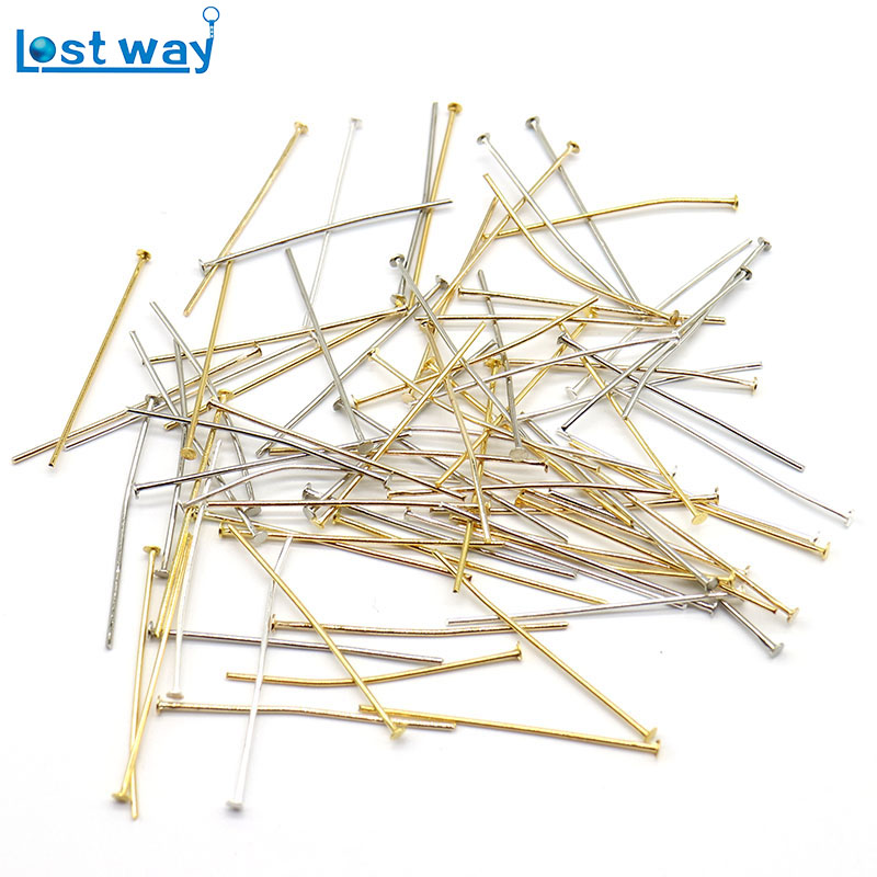 Wholesale Price 200 Pcs/lots Stainless Steel Silver Plated Head Pins Findings for DIY MakingWholesale Price 200 Pcs/lots Stainless Steel Silver Plated Head Pins Findings for DIY Making