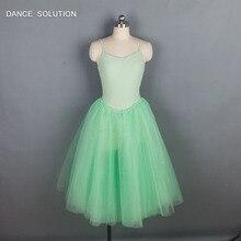 d70fe37e12 Child and Adult Red Orange Green Long Romantic Ballet Tutu Performance  Costume Ballerina Dress