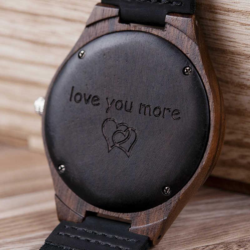 Reloj de madera con logotipo personalizado con caja de regalo y envío directo