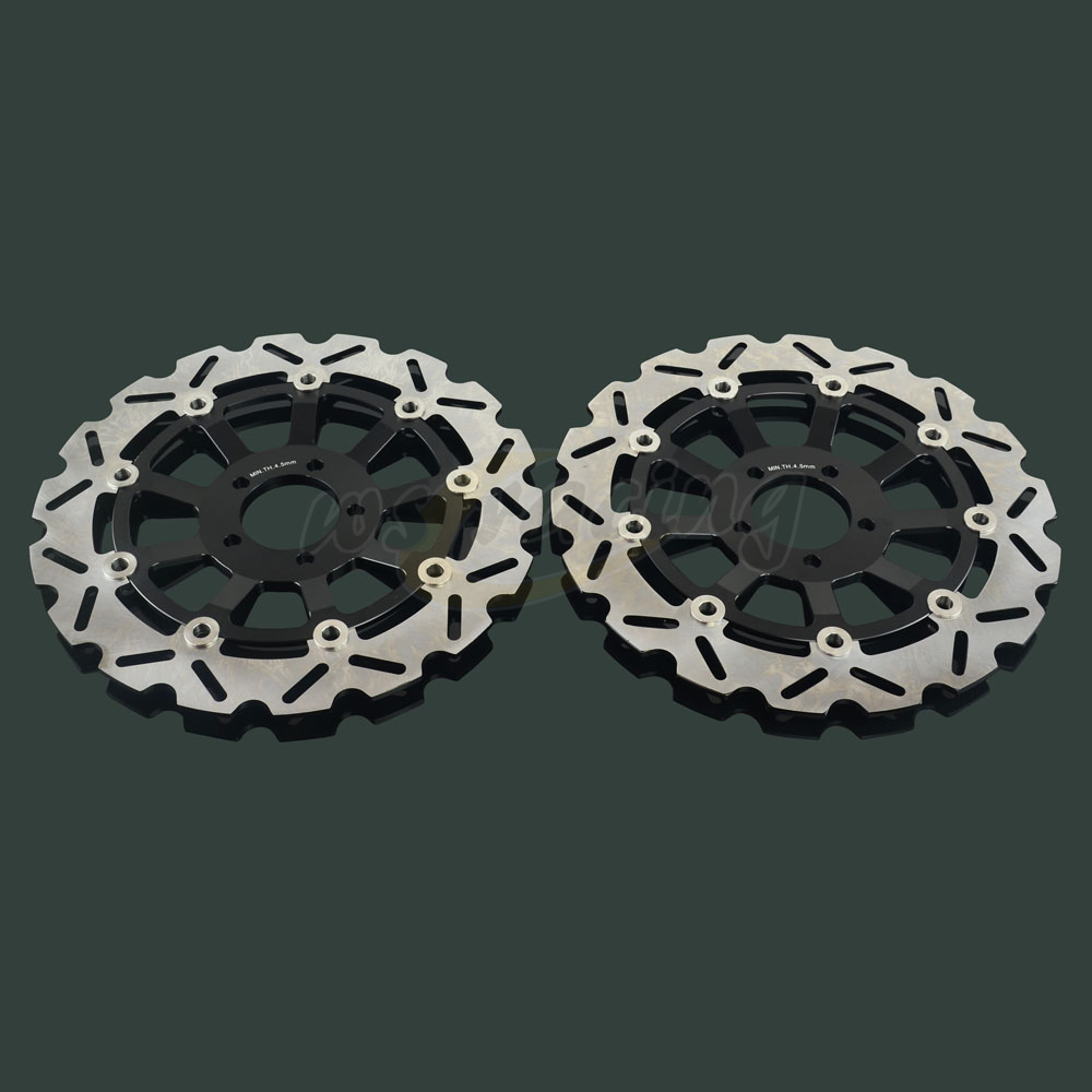 2 Pcs Outer Diameter 310MM Front Floating Brake Disc Rotor For ZXR400 ZXR750 ZX9R ZEPHYR 1100 ZRX1100 ZR1100 ZZR1100 ZRX1200 R/S цены онлайн