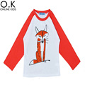 Kids T Shirt Boy Brand Long Sleeve Kids T-shirt For Girls Boys Clothes 2016 Autumn Cute Cartoon Animal Boys Kids T-shirts Brand