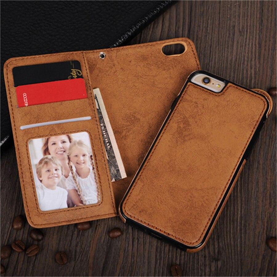 Lancase чехол для iPhone 6 чехол бумажник съемный кожаный hoesjes крышка для iPhone 6 6S Plus карты Слоты Магнитный телефон Сумки