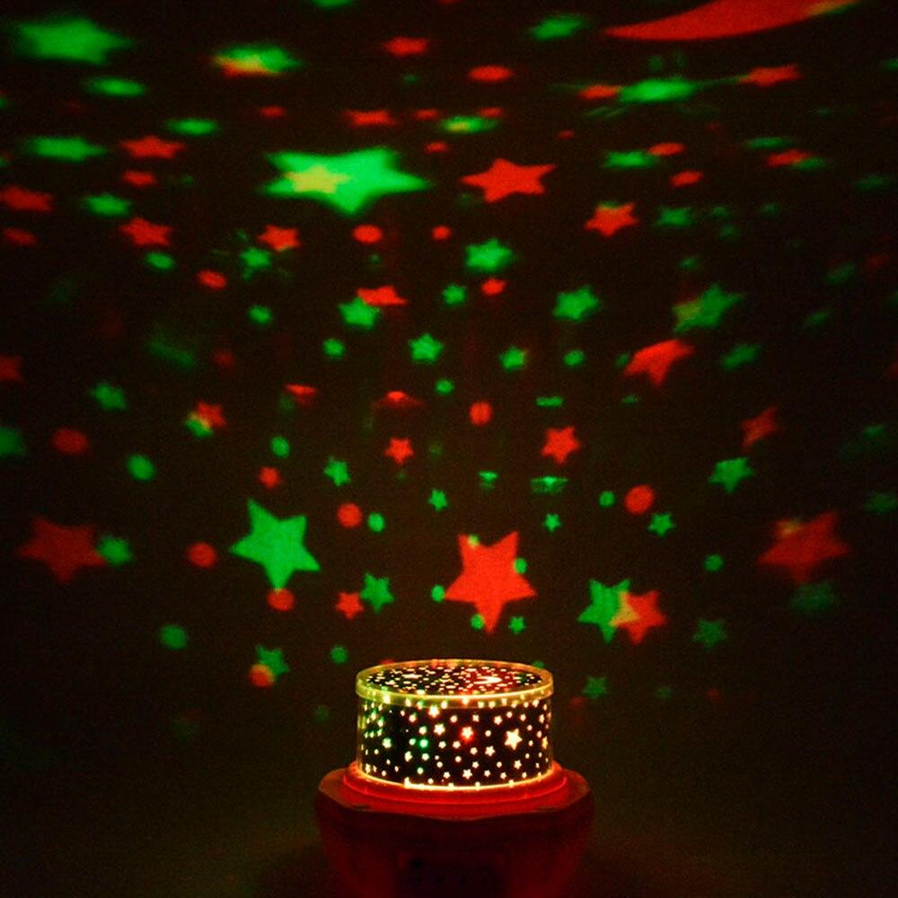 Neue Mode Bunten Flash Romantische Rose Projektor Nachtlicht ...