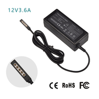 12V 3 6A 45W AC Laptop Power Supply Adapter Cable Plug Travel Wall Charger For Microsoft