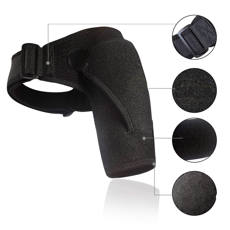 Shoulder Brace with Pressure Pad  Neoprene Shoulder Support Shoulder Pain Ice Pack Shoulder Compression Sleeve 6