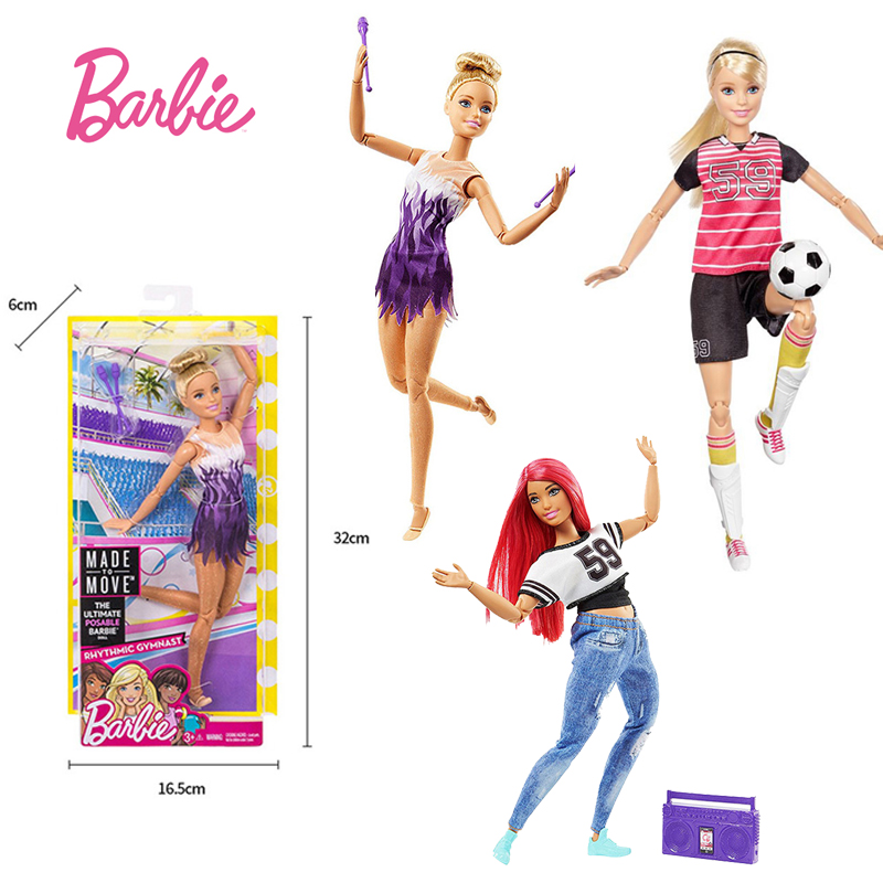 Original Barbie Brand Sport All Joints Move Set Barbie Girl Doll Toys Birthdays Girl Gifts For Kids Boneca toys for children original barbie toys barbie musician doll & playset barbie dolls set collector model figure all joints toy gift for girls boneca
