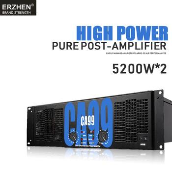 Wzmacniacz mocy profesjonalny wzmacniacz mocy po etapie czystego CA99 5200 W 3U dwa kanały tanie i dobre opinie KATELEIYU Wzmacniacze mocy
