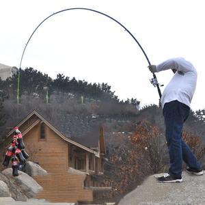 Image 1 - Canna da pesca 210 centimetri, 240 centimetri, 270 centimetri, 300 centimetri, 360 centimetri In Fibra di Carbonio Spinning Canna Da Pesca Canne Casting Asta di Viaggi 4 Sezioni Richiamo di Pesca