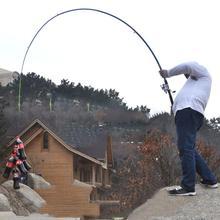 Olta 210 cm, 240 cm, 270 cm, 300 cm, 360 cm Karbon fiber çubuk Iplik Balıkçılık Çubuklar Döküm Seyahat Çubuk 4 Bölümler Balıkçılık Cazibesi